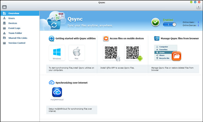 Image result for qnap qsync